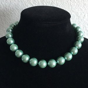 Charter Club Mint Green Faux Pearl Necklace (V79)